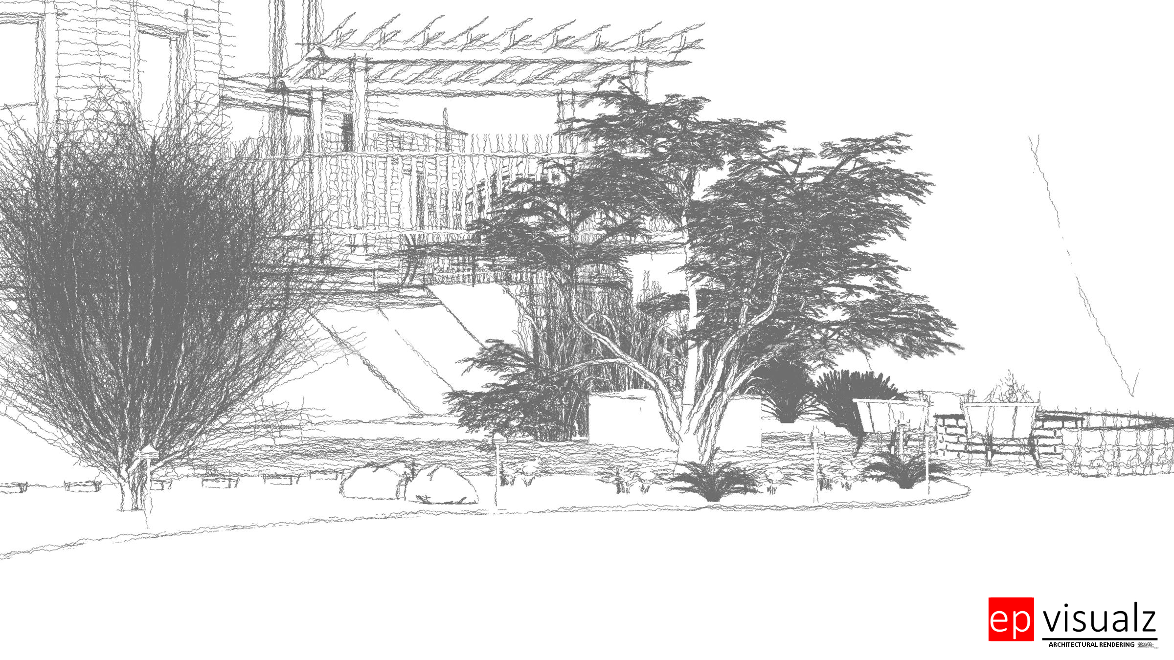 21 Brunson backyard-line drawing-3