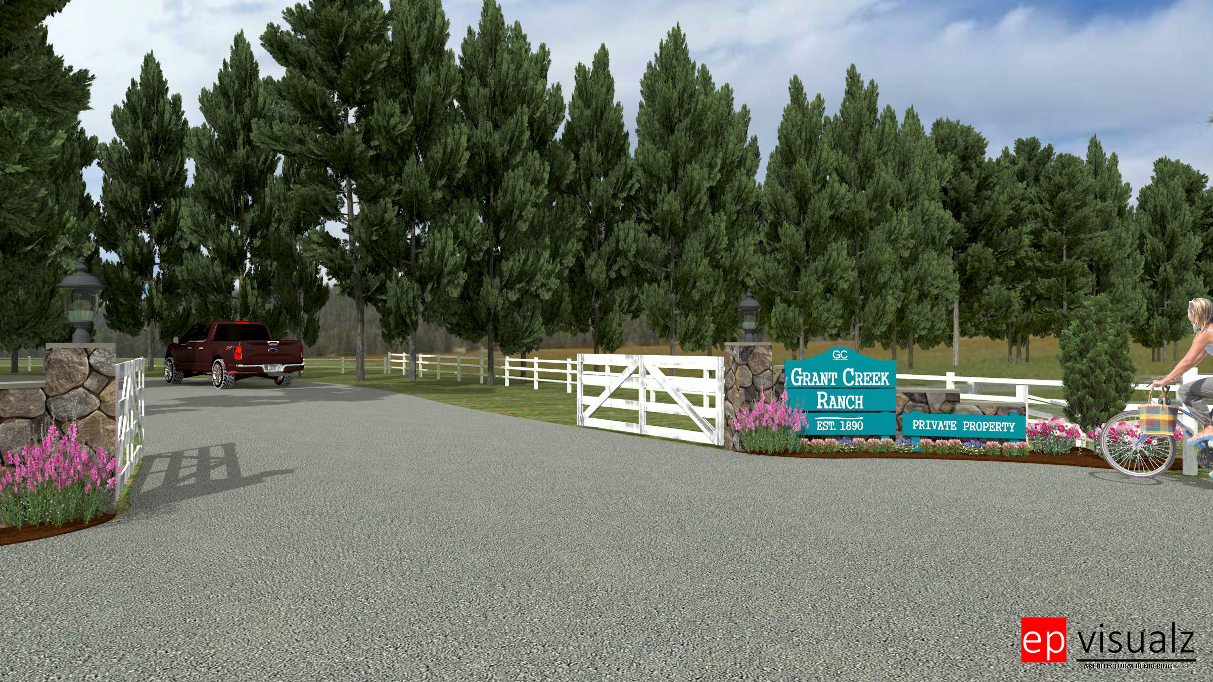 Grant Creek ranch Entry-close