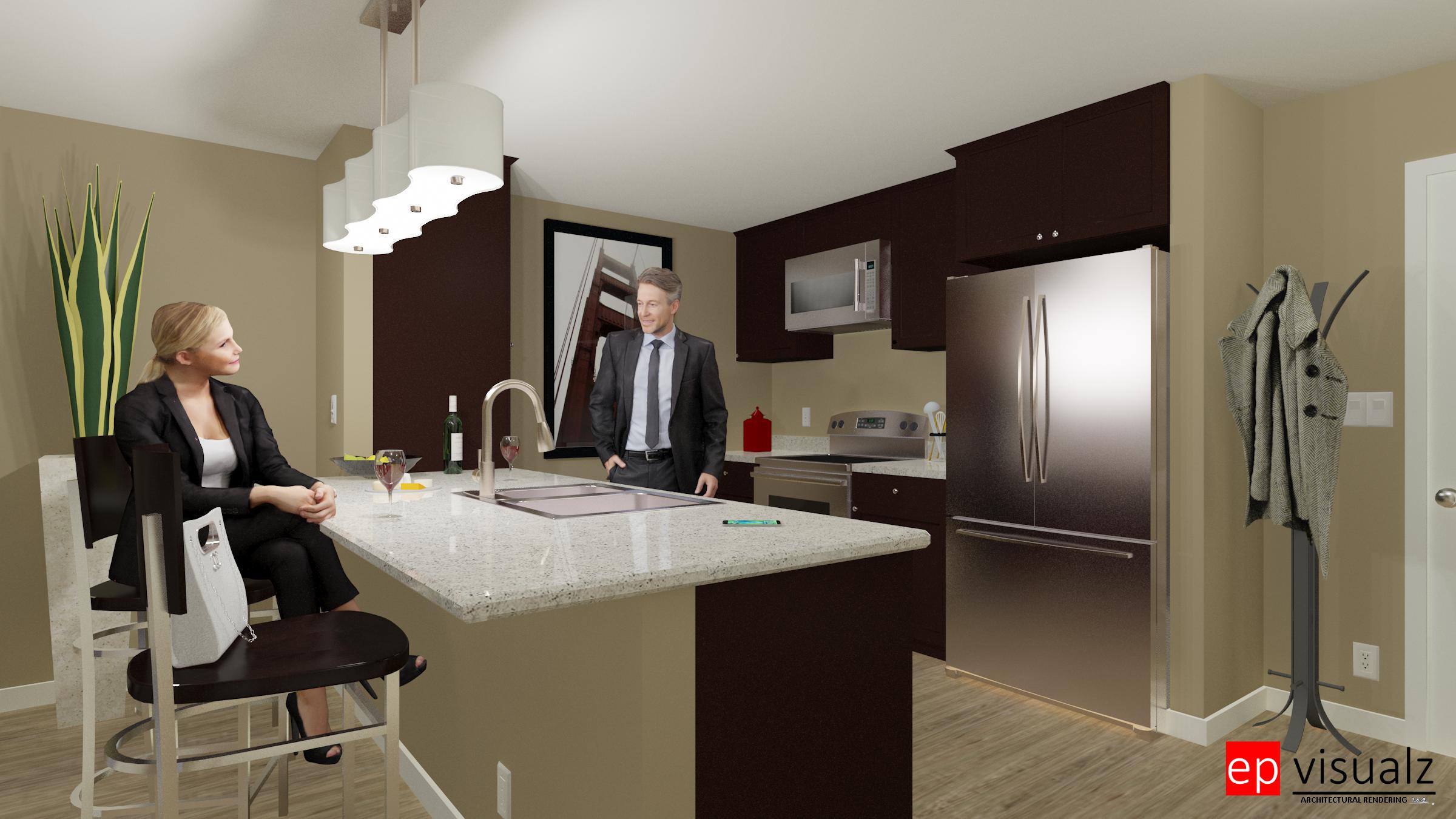 Kitchen-610 Ayer Rd. 1 bdrm