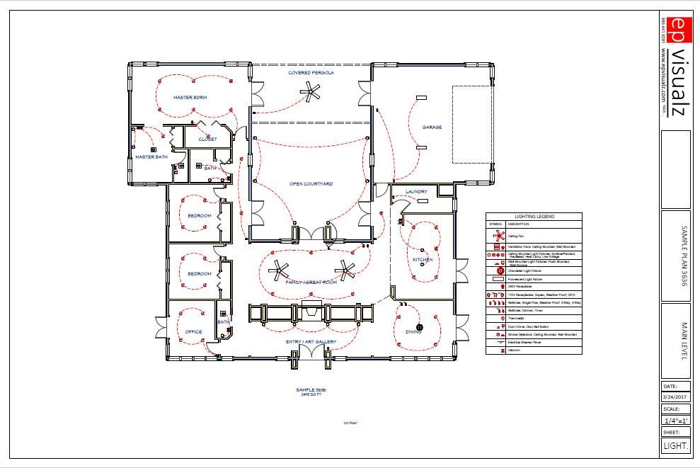 Sample Lighting Plan