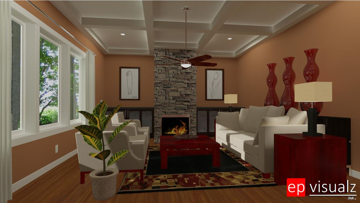 Fireplace Living Room 2-RT
