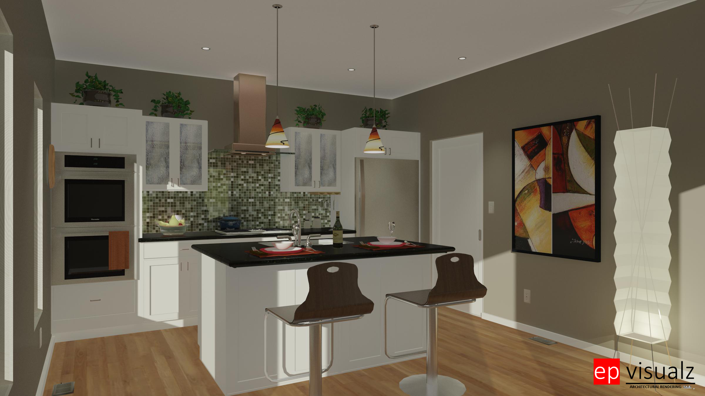 Kitchen-White Transitional RT