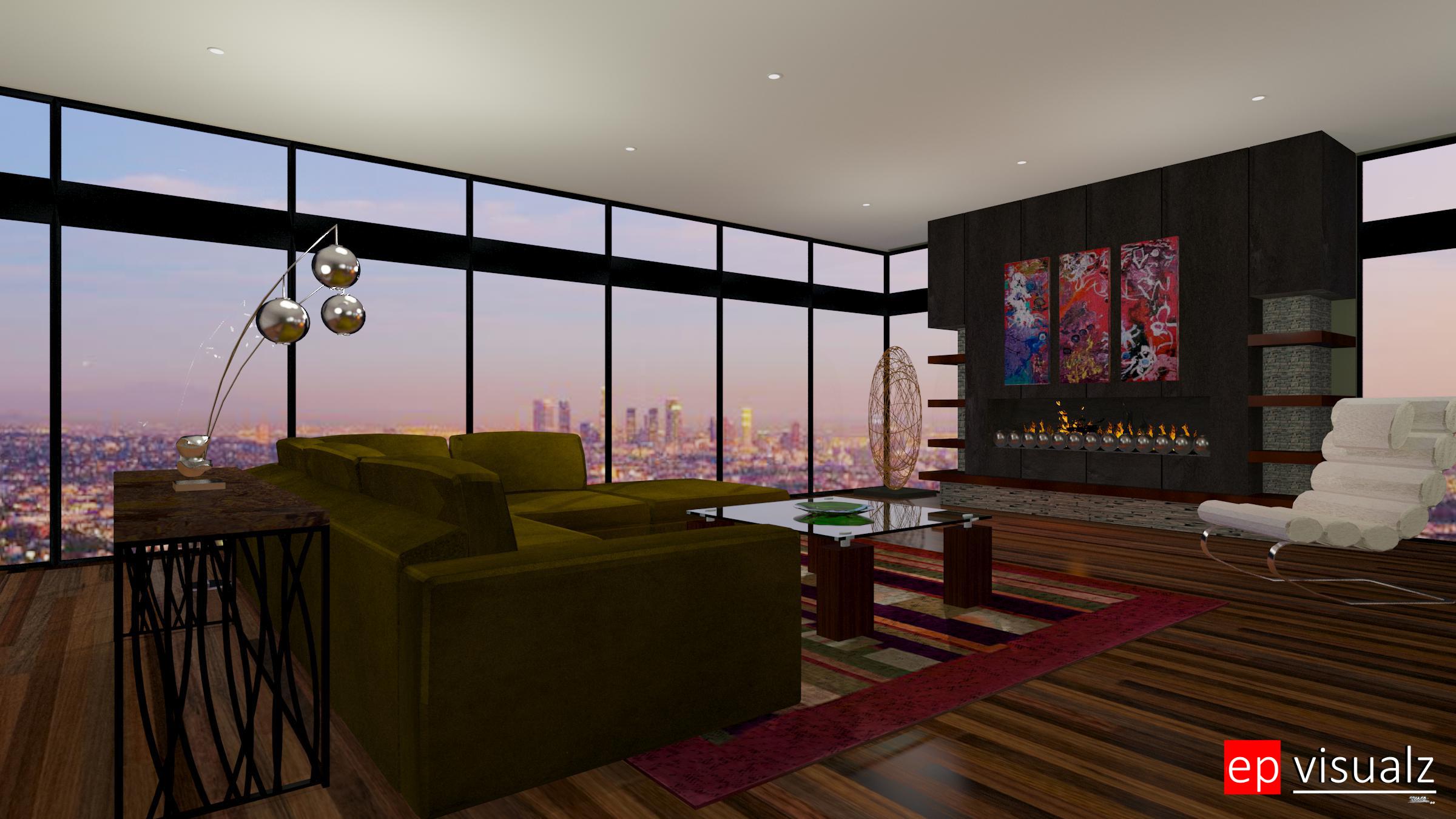 Living Room-Modern 1d